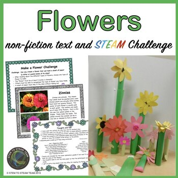 Flowers Informational Reading and Create a Flower STEAM Challenge