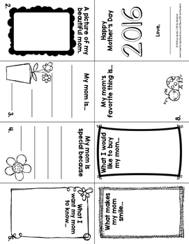 Mother's Day Fold-A-Book Activity