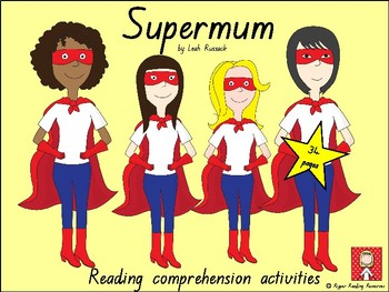 "Mother's Day: Free bookmarks for ""Supermum"" by Leah Russack"