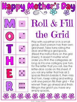 Mother's Day Freebie - Fill the Grid