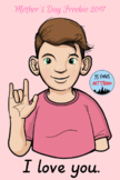 Mother's Day Freebie - I Love You ASL Clip Art Set - *Clip Artists' Collab*