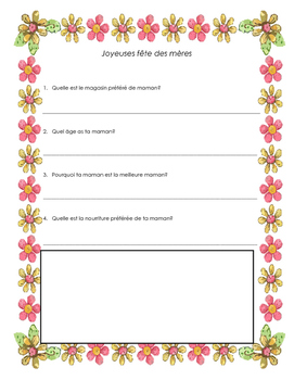 Mother's Day French Questionnaire
