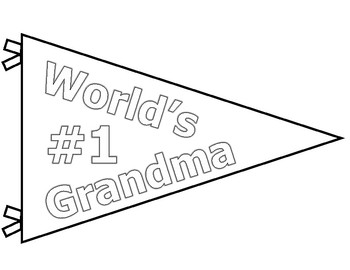 Mother's Day Fun & Easy Activity: Pennant and Survey