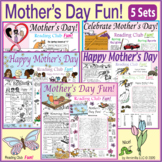 Mother's Day Fun – Puzzles and Activities – 5 Set Bundle –