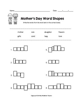 Mother's Day Fun Worksheet Pack (K-2)