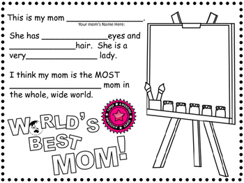 Mother's Day Fun Writing Activities~For Primary Grades