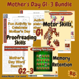 Mother's Day Games & Puzzles Bundle for Kids G1-3