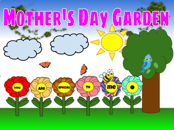 Mother's Day Garden Digital and Printable Activity (Wonderful Mother's Day Gift)