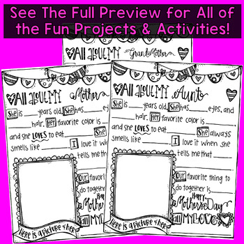 Mother's Day Gift Book! Totally Adorable and Fun to Create! Grades 2-3 Level
