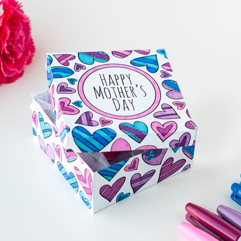 Mother's Day Gift Box Templates (6 Pack) | 6 printable PDF gift boxes to color