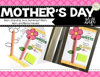 Mother's Day Gift Card Tag Craft Mom, Grandma, Aunt, Mum, Nanna, Homeroom Mom