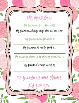 Mother's Day Gift, Grandma, Letter G Week, Grandparents' Day