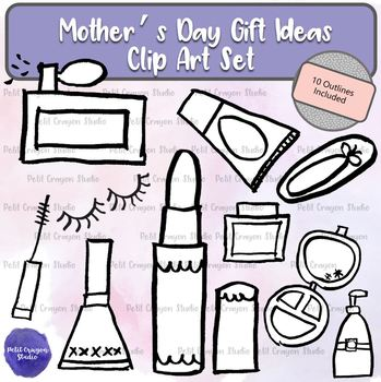 Mother's Day Gift Ideas Clip Art Set for Commercial and Personal Use