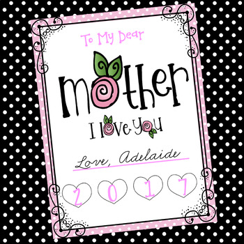 Mother's Day: Poetry, Prose, Paragraphs & a Gift for Mom! (4th-6th)