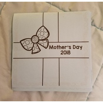 EASY Mother's Day Gift Shaped Card
