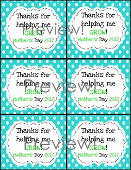 Mother's Day Gift Tags!