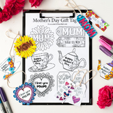 Mother's Day Gift Tags - 12 DIY printable gift tags to col