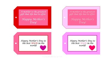 Mother's Day Gift Tags