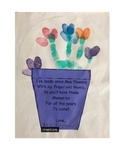 Mother's Day Gift flower pot for hand print poem