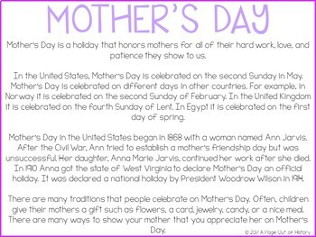 Mother's Day Google Drive Digital Interactive Activity Pack (Editable)