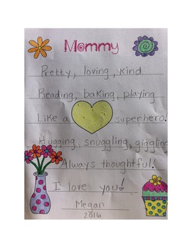 Mother's Day Grades K-8