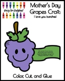 Mother's Day Grapes Craft and Poem for Kindergarten: I lov