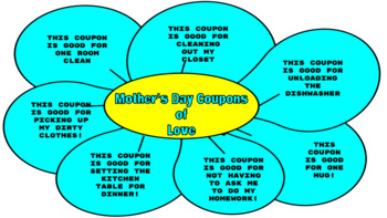 Mother's Day Graphic Organizers (DIGITAL AND PRINTABLE VERSIONS INCLUDED)