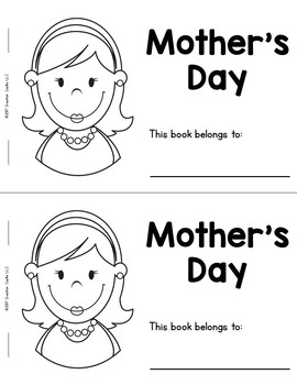 Mother's Day Guided Reading Book