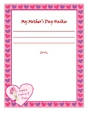 Mother's Day Haiku Poem Template