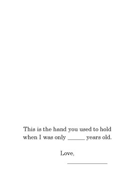 Mother's Day Hand print Poem