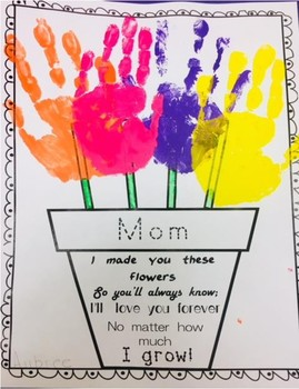 mother 39 s day handprint flower pot poem by kindertrolls tpt. Black Bedroom Furniture Sets. Home Design Ideas