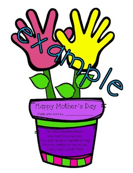 Mother's Day: Handprint Flower Pot with Poem!