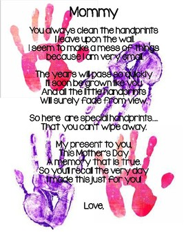 Mothers Day Handprint Poem English And Spanish