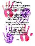 Mother's Day Handprint Poem-English and Spanish