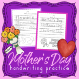 Mother's Day Handwriting Practice Sheets - Handwriting Without Tears Spring