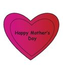 Mother's Day Heart Art Activity - Coloring Page