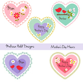 Mother's Day Hearts Clipart