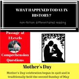 Mother's Day History Differentiated Reading Passage
