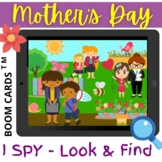 Mother's Day I Spy Look and Find - Boom Cards Distance Lea