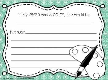Mother's Day Activity Sheets: If My Mom Was A...