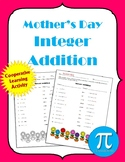 Mother's Day Integer Addition Cooperative Learning