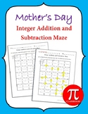 Mother's Day Integer Addition and Subtraction Maze