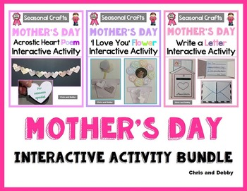 Mother's Day Craft - Interactive Activity Bundle - Seasonal Craft