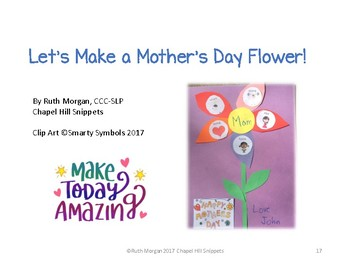 Mother's Day Interactive Book and Craft--Special Education and Speech Therapy