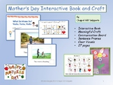 Mother's Day Interactive Book and Craft--Special Education