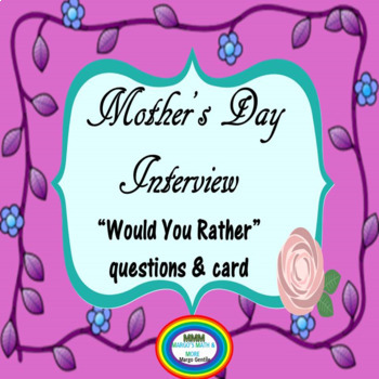 Mother's Day Interview & Card