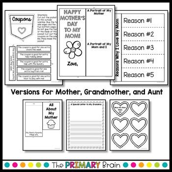 Mother's Day Lapbook Keepsake Gift - A Fun Writing Craftivity