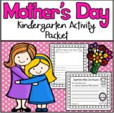 Mother's Day Kindergarten Activity Packet