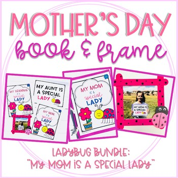 Mother's Day Ladybug Booklet and Picture Frame Craft Bundle