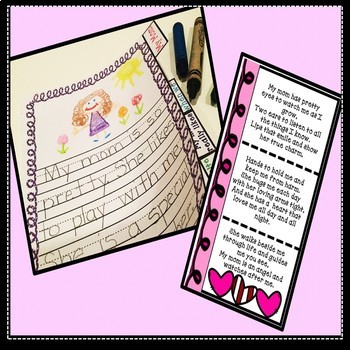 Mother's Day Lapbook Mother's Day Craft Card Mother's Day Writing Activity